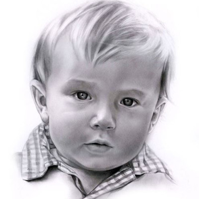 Pencil Drawing Boy from photo