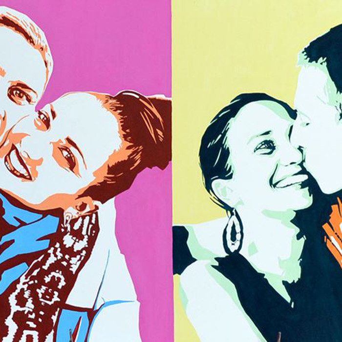 Great handmade pop art portraits