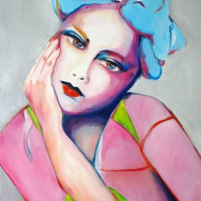 Abstract Artwork Portrait of a Woman