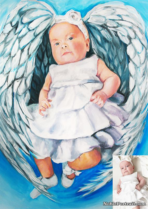 Baby shower gift portrait