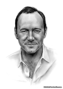 Pencil Portrait of Kevin Spacey