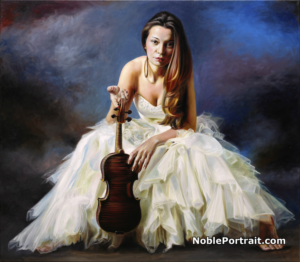Stunning Painted Portrait from Photo