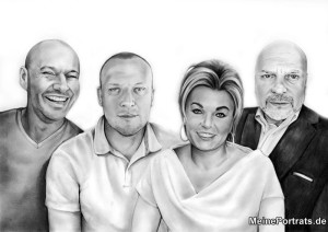 Family portrait as Wedding Gift for Gay Couple