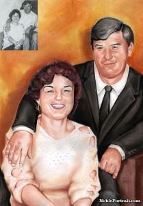 Portrait Gift Parents 30th Anniversary