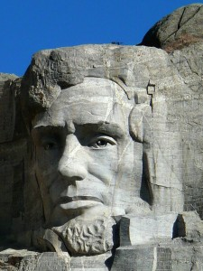 Face of Abraham Lincoln on Mount Rushmore