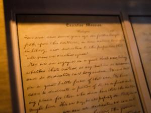 Abraham Lincoln handwritten speech called The Gettysburg Speech