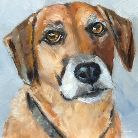 Realistic dog portrait