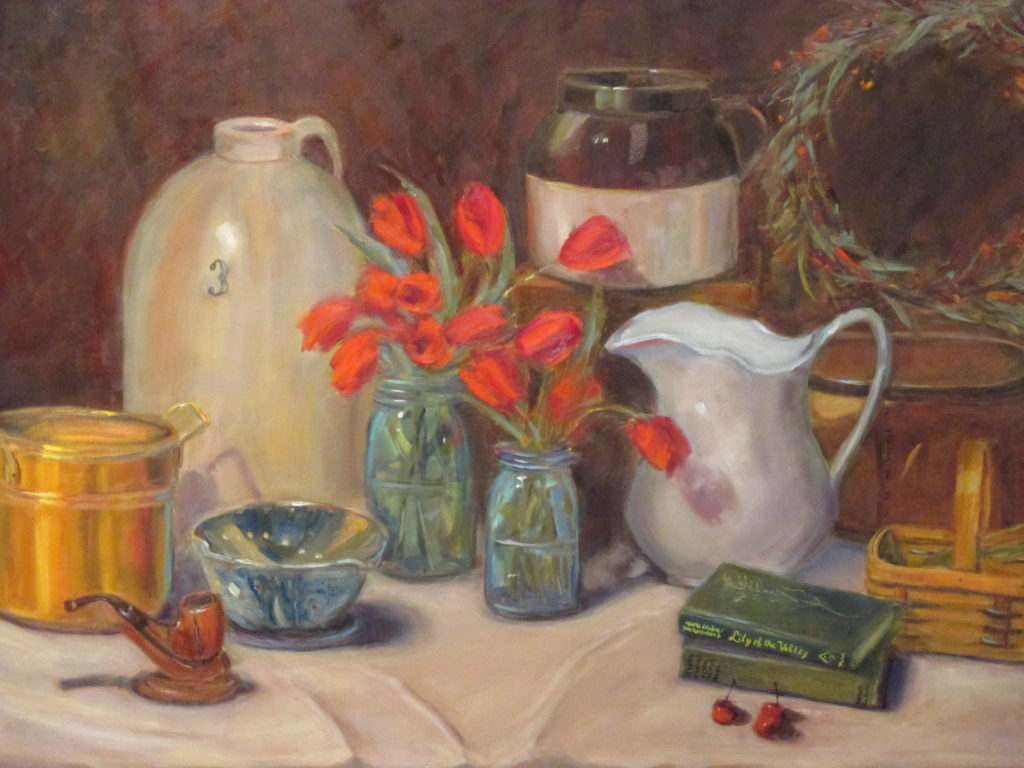 still life on canvas